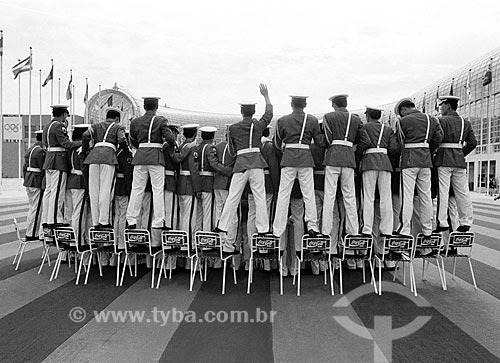 Banda marcial durante a cerimônia de encerramento dos Jogos Olímpicos - Seul 1988  - Seul - Cidade Especial de Seul - República da Coreia