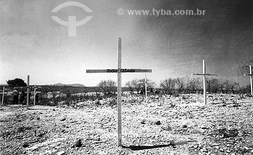 Túmulo de João Abade - chefiava a Guarda Católica, também chamada de Companhia do Bom Jesus, que cobria a segurança de Antônio Conselheiro e a defesa do povoado  - Canudos - Bahia (BA) - Brasil
