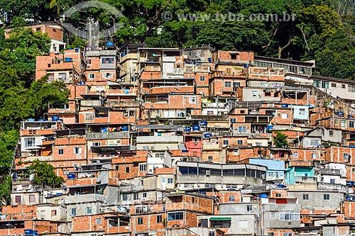 Vista do Morro dos Prazeres a partir do bairro de Cosme Velho  - Rio de Janeiro - Rio de Janeiro (RJ) - Brasil