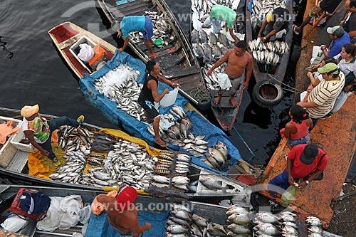 Mercado de Pescado no porto de Manaus  - Manaus - Amazonas (AM) - Brasil