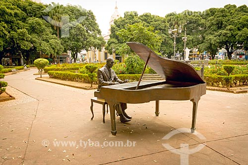 Estátua em homenagem ao compositor Ary Barroso na Praça São Januário  - Ubá - Minas Gerais (MG) - Brasil