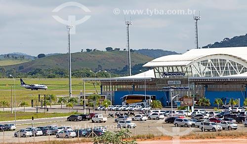 Vista geral do estacionamento do Aeroporto Regional Presidente Itamar Augusto Cautieiro Franco  - Goianá - Minas Gerais (MG) - Brasil