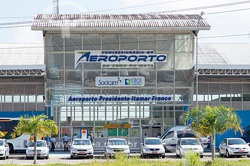 Entrada do Aeroporto Regional Presidente Itamar Augusto Cautieiro Franco  - Goianá - Minas Gerais (MG) - Brasil
