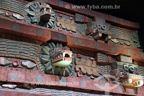 Detalhe do interior do Museo Nacional de Antropología (Museu Nacional de Antropologia do México)  - Cidade do México - Distrito Federal - México