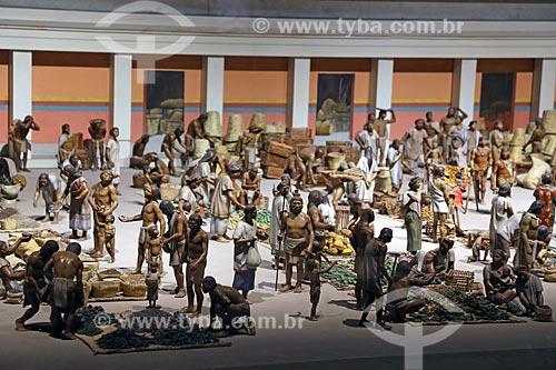 Reconstrução de cena no interior do Museo Nacional de Antropología (Museu Nacional de Antropologia do México)  - Cidade do México - Distrito Federal - México