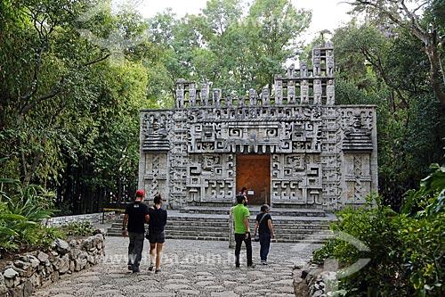 Jardim do Museo Nacional de Antropología (Museu Nacional de Antropologia do México)  - Cidade do México - Distrito Federal - México