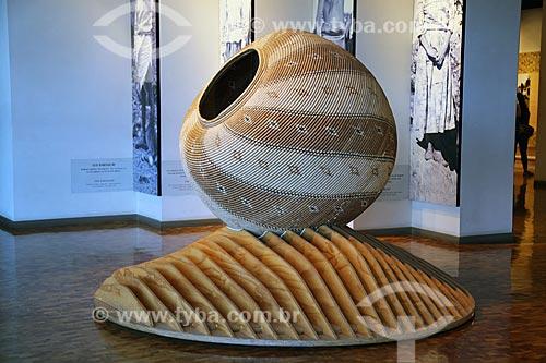 Detalhe da Canasta (cesto de palha) - parte da coleção Noroeste: Serras, desertos e vales do Museo Nacional de Antropología (Museu Nacional de Antropologia do México)  - Cidade do México - Distrito Federal - México