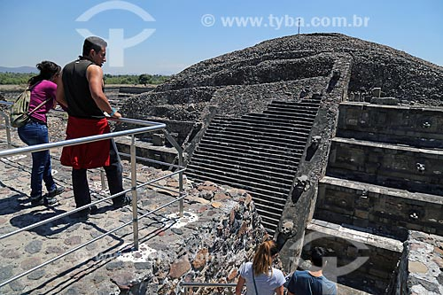 Pirámide de la Serpiente Emplumada (Pirâmide da Serpente Emplumada) - também conhecida como Pirâmide de Quetzalcóatl - nas Ruínas de Teotihuacan  - San Juan Teotihuacán - Estado do México - México