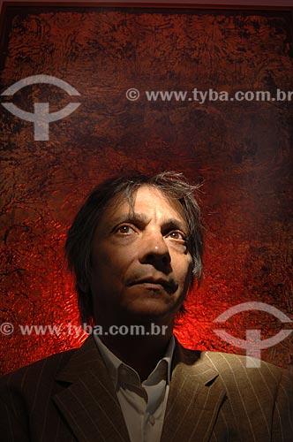 Detalhe do artista plástico Tunga em seu atelier  - Rio de Janeiro - Rio de Janeiro (RJ) - Brasil
