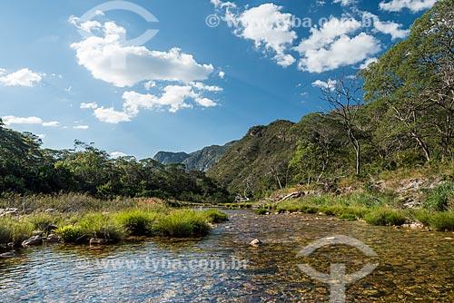 Rio Mascates no Parque Nacional da Serra do Cipó próximo ao Cânion das Bandeirinhas  - Santana do Riacho - Minas Gerais (MG) - Brasil