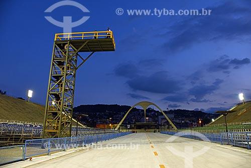 Vista do Sambódromo da Marquês de Sapucaí durante o ensaio técnico  - Rio de Janeiro - Rio de Janeiro (RJ) - Brasil