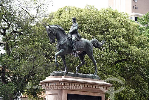 Estátua equestre do General Osório (1894) na Praça XV de Novembro  - Rio de Janeiro - Rio de Janeiro (RJ) - Brasil