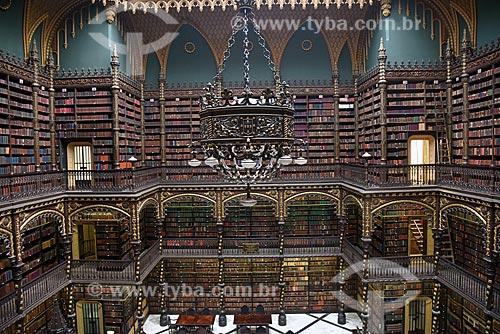 Interior do Real Gabinete Português de Leitura (1887)  - Rio de Janeiro - Rio de Janeiro (RJ) - Brasil