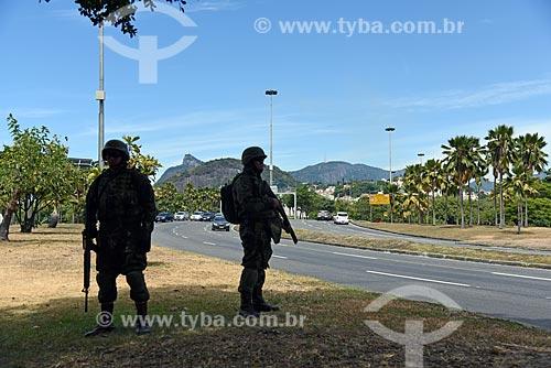 Fuzileiros navais fazendo o policiamento no Aterro do Flamengo  - Rio de Janeiro - Rio de Janeiro (RJ) - Brasil