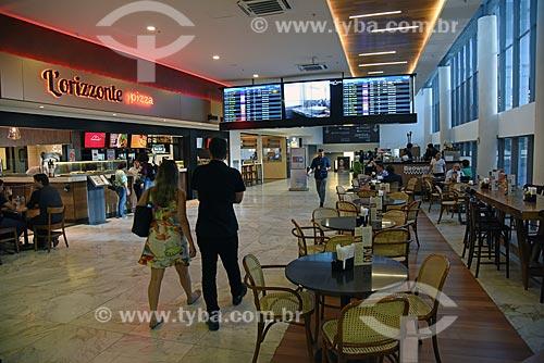 Detalhe da praça de alimentação do Bossa Nova Mall  - Rio de Janeiro - Rio de Janeiro (RJ) - Brasil