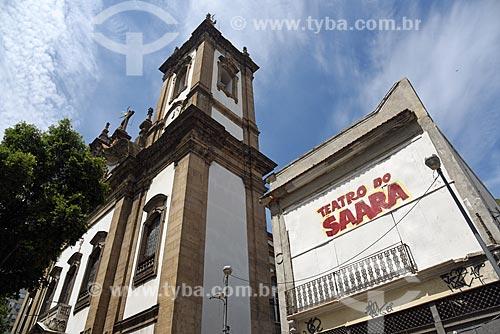 Fachada do Teatro do Saara com a Igreja de São Francisco de Paula  - Rio de Janeiro - Rio de Janeiro (RJ) - Brasil