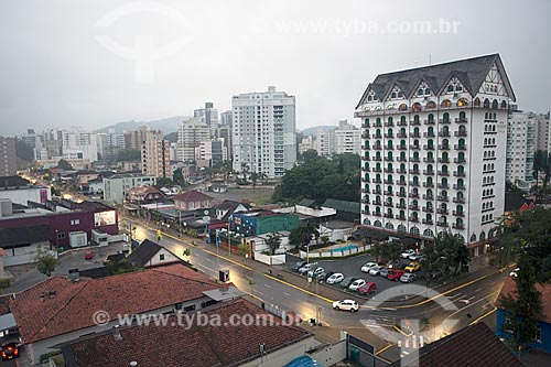 Vista do Hotel Tannenhof na esquina da Rua Visconde de Taunay com a Rua Henrique Meyer  - Joinville - Santa Catarina (SC) - Brasil