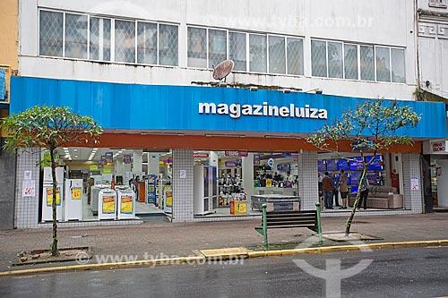 Loja da rede Magazine Luiza na Rua do Príncipe  - Joinville - Santa Catarina (SC) - Brasil