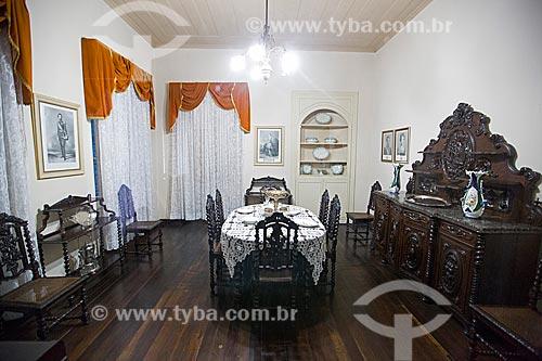 Museu Nacional de Imigração e Colonização (1870) - sala com mobiliário português  - Joinville - Santa Catarina (SC) - Brasil