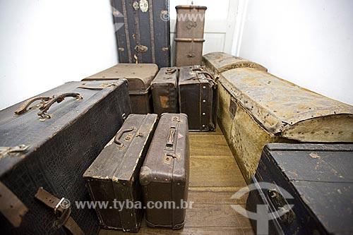 Museu Nacional de Imigração e Colonização (1870) - sala com malas e baús antigos  - Joinville - Santa Catarina (SC) - Brasil