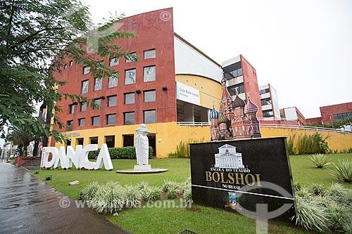Fachada da Escola do Teatro Bolshoi no Brasil - primeira escola de balé da companhia de dança fora da Rússia  - Joinville - Santa Catarina (SC) - Brasil