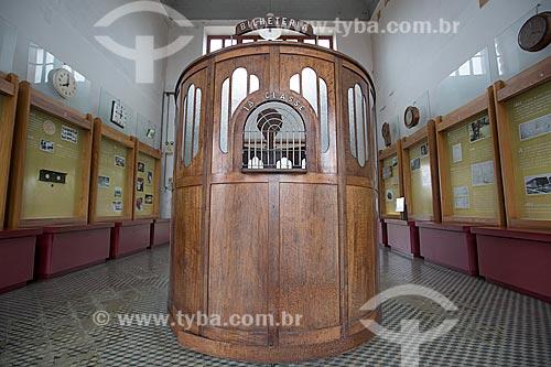 Bilheteria no interior da Estação Museu da Memória - antiga Estação Ferroviária de Joinville  - Joinville - Santa Catarina (SC) - Brasil