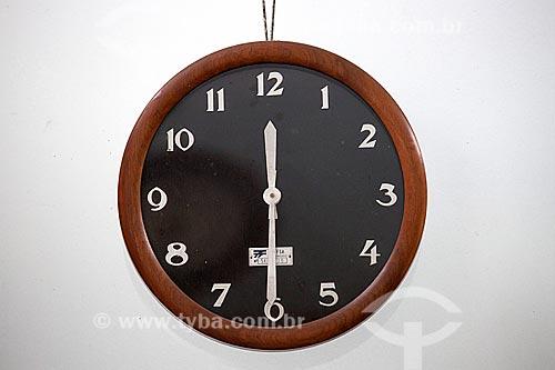 Relógio em exibição na Estação Museu da Memória - antiga Estação Ferroviária de Joinville  - Joinville - Santa Catarina (SC) - Brasil