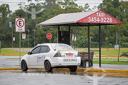 Ponto de táxi na cidade de Joinville  - Joinville - Santa Catarina (SC) - Brasil