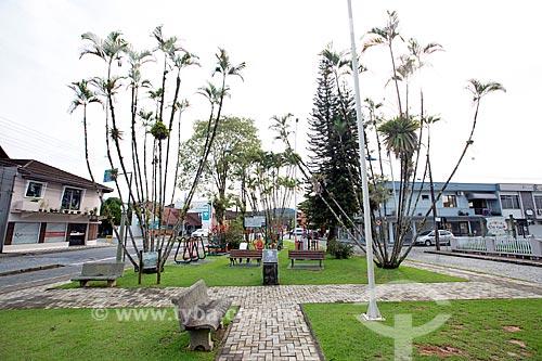 Praça Hans E. Schmidt na cidade de Pomerode  - Pomerode - Santa Catarina (SC) - Brasil