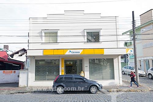 Fachada de agência dos Correios na Avenida Luiz Abry  - Pomerode - Santa Catarina (SC) - Brasil