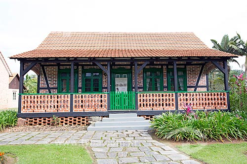Fachada do Museu Casa do Imigrante Carl Weege  - Pomerode - Santa Catarina (SC) - Brasil