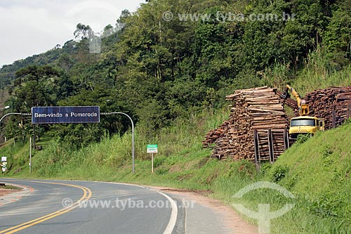 Madeireira Sell - no Km 110 da Rodovia Ralf Knaesel (SC-416)  - Pomerode - Santa Catarina (SC) - Brasil