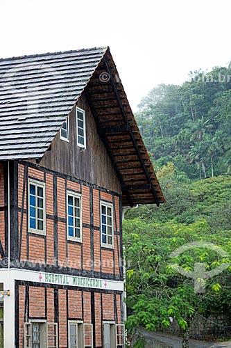 Fachada do Hospital Misericórdia com estilo enxaimel  - Blumenau - Santa Catarina (SC) - Brasil