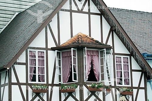 Casa com estilo enxaimel na Parque Vila Germânica  - Blumenau - Santa Catarina (SC) - Brasil