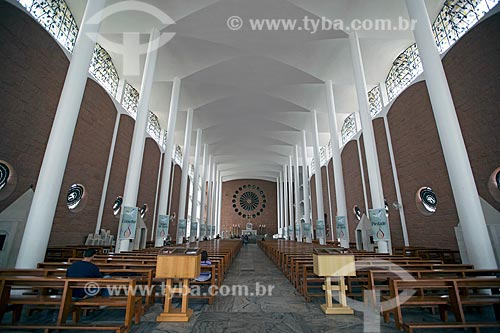 Interior da Catedral São Paulo Apóstolo (1958)  - Blumenau - Santa Catarina (SC) - Brasil