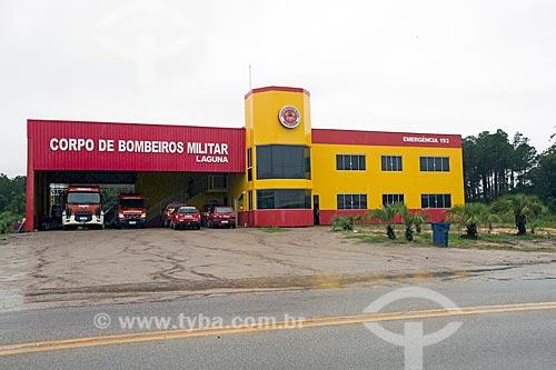 Quartel do Corpo de Bombeiros na cidade de Laguna  - Laguna - Santa Catarina (SC) - Brasil