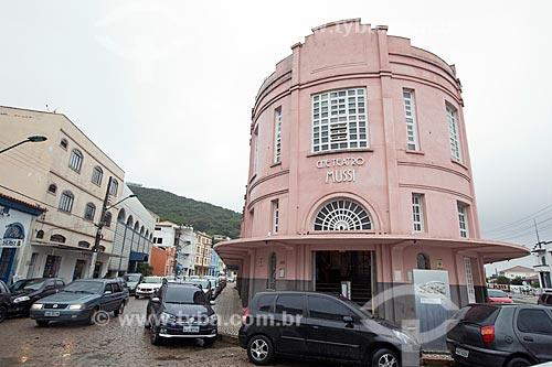 Fachada do Cine Teatro Mussi  - Laguna - Santa Catarina (SC) - Brasil