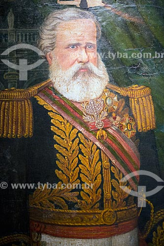 Detalhe de Imperador Dom Pedro II - Reprodução do acervo do Museu Anita Garibaldi  - Laguna - Santa Catarina (SC) - Brasil