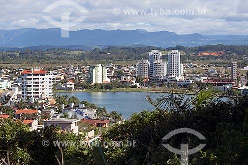 Vista geral da Lagoa do Violão  - Torres - Rio Grande do Sul (RS) - Brasil