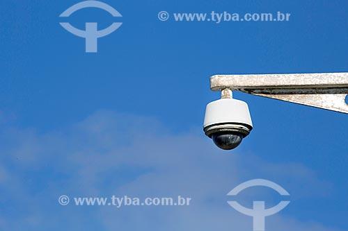 Detalhe de câmera de segurança no Morro do Farol  - Torres - Rio Grande do Sul (RS) - Brasil
