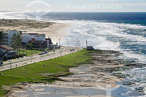 Vista da Praia do Meio com a Praia Grande ao fundo  - Torres - Rio Grande do Sul (RS) - Brasil