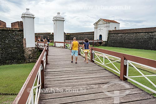 Vista da entrada da Fortaleza de São José de Macapá (1754)  - Macapá - Amapá (AP) - Brasil