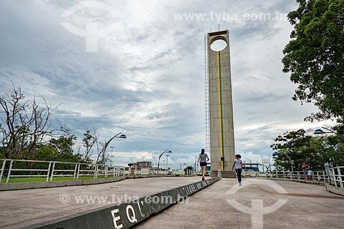 Vista do Marco Zero de Macapá - marca a passagem exata da Linha do Equador em Macapá  - Macapá - Amapá (AP) - Brasil