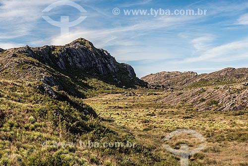 Vista do Pico das Agulhas Negras no Parque Nacional de Itatiaia  - Itatiaia - Rio de Janeiro (RJ) - Brasil
