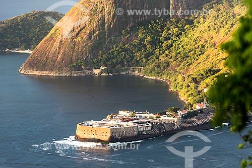 Vista da Fortaleza de Santa Cruz da Barra (1612) a partir do Pão de Açúcar  - Rio de Janeiro - Rio de Janeiro (RJ) - Brasil