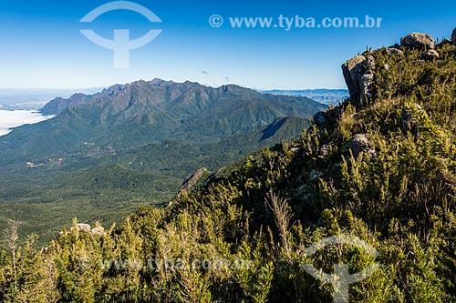 Vista durante a trilha para o Morro do Couto no Parque Nacional de Itatiaia  - Itatiaia - Rio de Janeiro (RJ) - Brasil