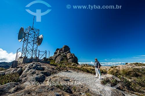 Morro da Antena - onde há uma antena de microondas de Furnas - no Parque Nacional de Itatiaia  - Itatiaia - Rio de Janeiro (RJ) - Brasil