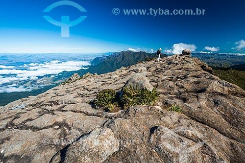 Vista do cume do Morro do Couto no Parque Nacional de Itatiaia  - Itatiaia - Rio de Janeiro (RJ) - Brasil