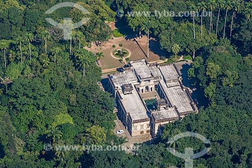 Vista do Parque Henrique Lage - mais conhecido como Parque Lage - a partir do mirante do Cristo Redentor  - Rio de Janeiro - Rio de Janeiro (RJ) - Brasil