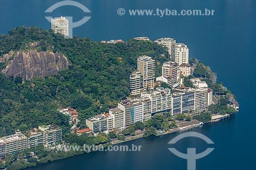 Vista do Morro do Sacopã a partir do mirante do Cristo Redentor  - Rio de Janeiro - Rio de Janeiro (RJ) - Brasil